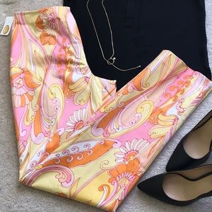TALBOTS SIZE 4 FLORAL STRETCH PANT